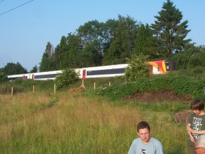 A train passes