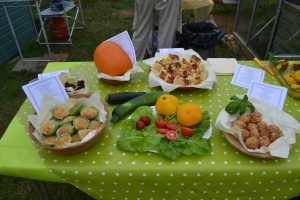 Food made with garden produce