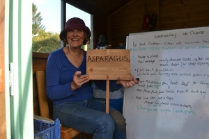 Louise has been preparing signs for some of our beds