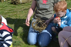 Briony makes a willow ball by combining hoops